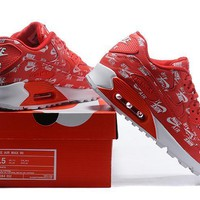 NIKE AIR MAX 90 red/white size 36-46