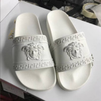 White Versace Slippers