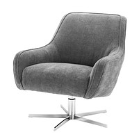 Gray Upholstered Swivel Chair | Eichholtz Serena