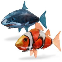 Air Swimmer Flying Remote Control Inflatable Fish Shark  Kids
