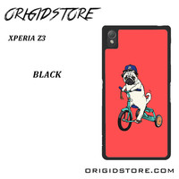 Pug Bicycle For Sony Xperia Z3 Case UY