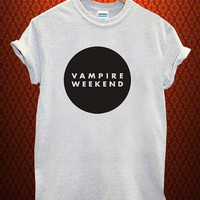 vampire weekend logo Music tee Ash Grey t Shirt Men and Women T Shirt more size available