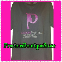 Passion Parties Independent Consultant Rhinestone Shirt