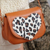 Modern the love leopard parties chain female bag