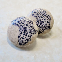 Africa Button Earrings, Free Shipping, Sale, Fabric Earrings, Cloth Earrings, Ankara Earrings, African Earrings, Black Friday, Gifts For Her
