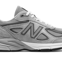 spbest WOMENS NEW BALANCE 990v4 - Grey with Castlerock