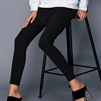 Casual Black High Waist Harem Pants