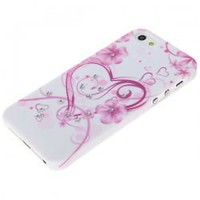 Arabesquitic Pattern White Base with Diamond for iphone 5