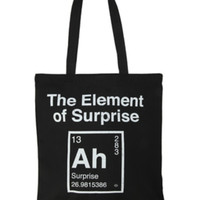 The Element Of Surprise Canvas Tote