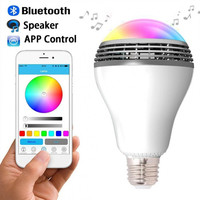 2016 Newest PLAYBULB Smart LED Bulb Light Wireless Bluetooth Speaker 110V - 240V E27 3W Lamp Audio for Android ISO iPhone iPad