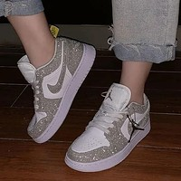 Nike Gypsophila low-top white shoes Ladies sports casual sneakers Running shoes