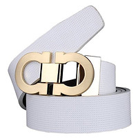 Men's Smooth Leather Buckle Belt 35mm Leather up to 42inch