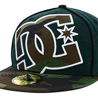 DC Shoes Coverage II New Era Fitted 59Fifty Green Camo Hat Cap Size 7 3/8