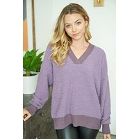 Hold Me Close Lilac Purple Knit Sweater