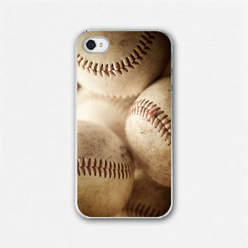 Baseball iphone case iphone 4 iphone 4s by LisaRussoFineArt