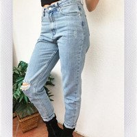 GIGI MOM JEANS- BLUE