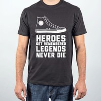 Heroes Get Remembered-Unisex Black T-Shirt