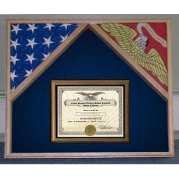 Flag Connections Military Flag Case For 2 Flags and Certificate Display Case
