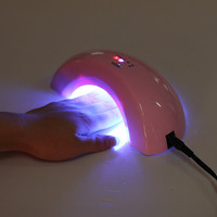 Mini Pink Manicures Pedicure Nail UV Gel Dryer LED Lamp