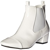 N.Y.L.A. Womens Gogo Faux Leather Ankle Booties