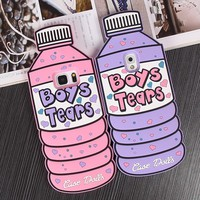 3D silicone Boys Tears soft case for Samsung and iPhone