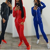x1love : Nike :Fashion Letter Long Sleeve Shirt Sweater Pants Sweatpants Set Two-Piece Sportswear
