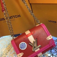 HCXX L020 Louis Vuitton LV EPI Monogram Twist Handbag 23-17-9.5cm Red