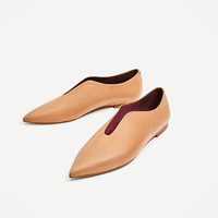 FLAT POINTY LEATHER SHOES DETAILS