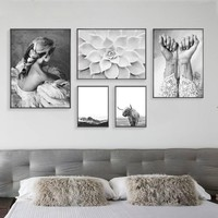 1pcs canvas painting Nordic Poster Abstract Wall Art Nordic Cuadros Decoracion Posters Prints Pictures(no frame no stretch)