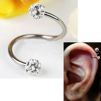 Steel Stainless Steel Twist Helix Cartilage Earring Piercing Lots Nose Ring And Studs Body Jewelry L10523