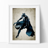 Batman Art Print, Batman Poster, Batman Wall Art, Superheroes Poster, Super Hero, Batman art, For gift, Batman gifts (264)