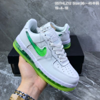 hcxx N1236 Nike Air Force1 AF1 Air Sole Liquid jelly gradient Logo Fashion Skateborad Shoes White Green