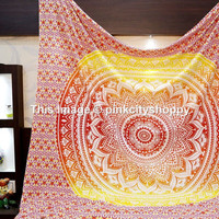 Psychedelic star Ombre mandala tapestry wall hanging hippie bedding throw bedspread hippie boho wall hanging bohemian ethnic decor art