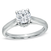For Eternity 1/2 CT. T.W. Diamond Engagement Ring in 14K White Gold