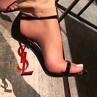 YSL Yves Saint Laurent Classic Popular Women High Heels Shoes Sandals