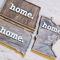 HOME Wooden Wall Hanging - SD only