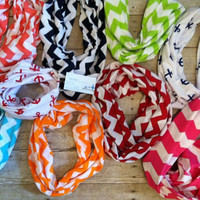 Red Chevron Infinity Scarfs - lots of colors avllb - Great Gift