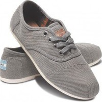 Taupe Waxed Twill Women's Cordones   TOMS.com
