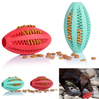 Pet Dog Cat Toys Football Soccer Ball Drain Food Toys Puzzle Resistant Bite Toys for Pets Dogs Puppy Cat Chew Toy