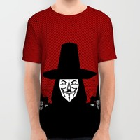 Million Mask March All Over Print Shirt by Chobopop