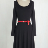 Long Long Sleeve A-line Boost Your Basics Dress