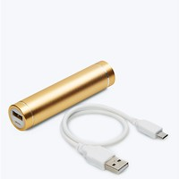 2600 mAh Smartphone Aluminum Power Bar in Yellow