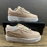 Morechoice Tuhy Nike Air Force 1 Pixel Particle Beige Low Sneakers Casual Skaet Shoes CK6649-200