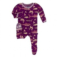 Kickee Pants Oceanography Collection Print Footie with Snaps