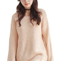 Cutout Long Sleeve Knit Sweater