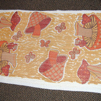 Vintage Mushroom Rug  so retro cool
