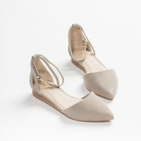 Seychelles Taupe Plateau Ankle Strap Flats