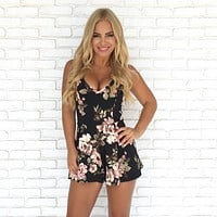 For Love & Lace Floral Romper
