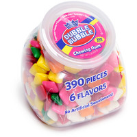 Dubble Bubble Assorted Chewing Gum Tabs: 390-Piece Desktop Tub