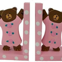 Baby Pink Teddy Bear Bookends $32.00